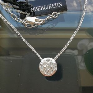 NWT Dyrberg Kern necklace with crystal pendant